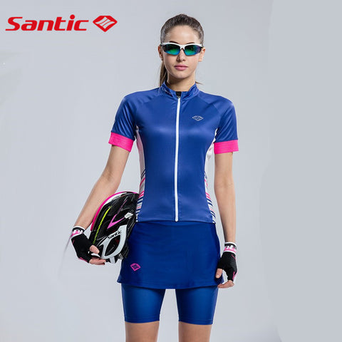 Santic Cycling Shorts Women Padded Summer Bike Shorts For Women Composite Fleece Thermal Pantalones Ciclismo Invierno L6C05072B