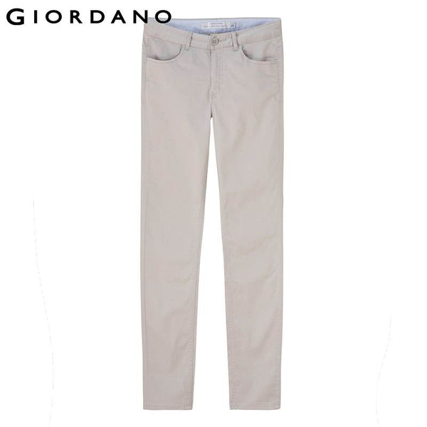 Giordano Women Slim Casual Pants Plain Stretchy Khakis for Women Fitted Womens Trousers Pantalones Mujer De Marca