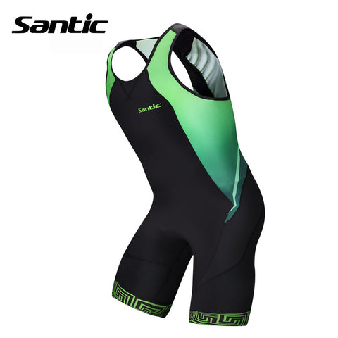 2015 New Santic Triathlon Clothing Elastic Cycling Jersey Tight Suit Cycling Swimming Mens Triathlon Sleeveless Jersey M5C03006V