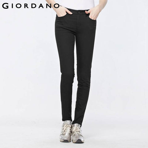 Giordano Women Cotton Pants Solid Casual Trousers Slim Fit Mujer Khakis Pantalones Femme Sarouel Pencil Pants