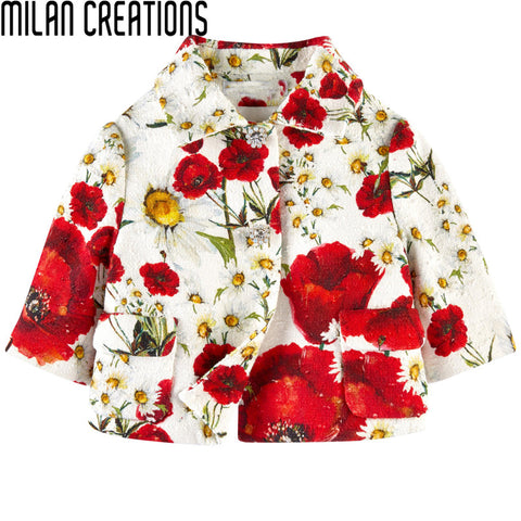 2013 New Winter Fashion children coat floral girls coat kids reversible wear children outerwear