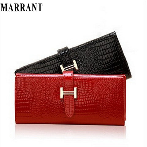 Guaranteed 100% Genuine Leather Wallet Women Handbags Wallets Clutch Bags Hot Sale Brander Design crocodile wallet for cheap