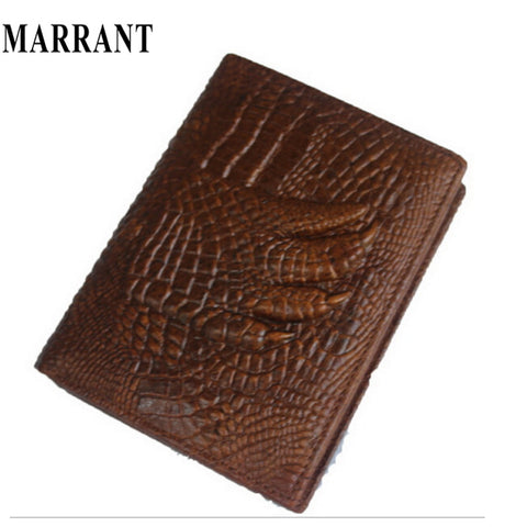 100% Genuine Leather Wallet High quality Crocodile 3D Fashion Leather men Wallets Large Capacity Men Purses 2015 Free Shipping