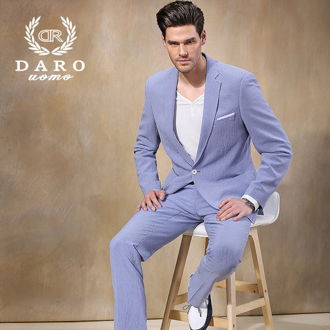 2015 High Quality Men's Casual suits sport suit formal business suits Plus-size for men jacket+pants  Styles XS-5XL DR8050-2