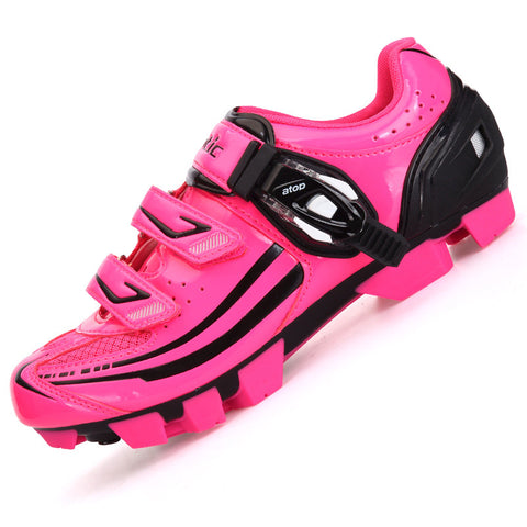 2015 Santic Winter MTB Cycling Shoes Pink zapatillas Shoes Bicycle Cleated Mountain Road Racing Women Cycling Shoes S12015R/P