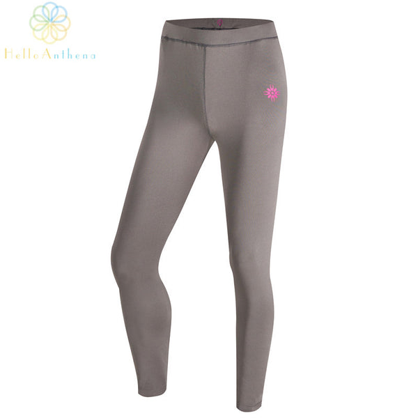 Sports tights running shorts yoga pants women 2015 new fitness training outdoors winter polyester elastic gray free shipping