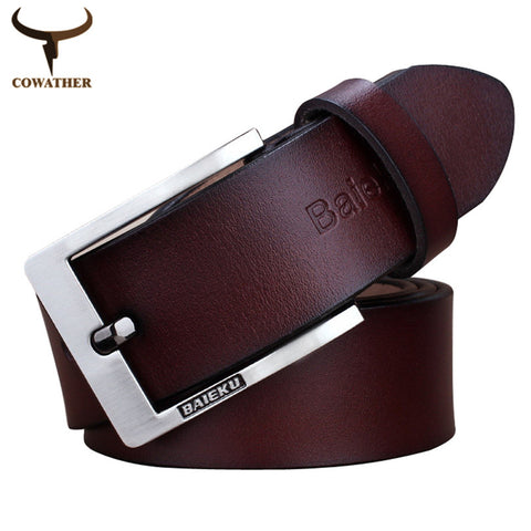 100% good quality auto buckle belt 2013 mens cow real genuine leather belts for men free ship dropshipping Z017