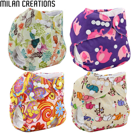 Couches Lavables Baby Nappies 2016 Brand Baby Cloth Diaper Cover Pocket Size Adjustable Character Reusable Baby Diapers Washable