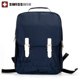 "Swisswin Brand School Bags for teenagers girls and boys preppy casual style student Mochila Rucksack backpack for 13 "" laptop"