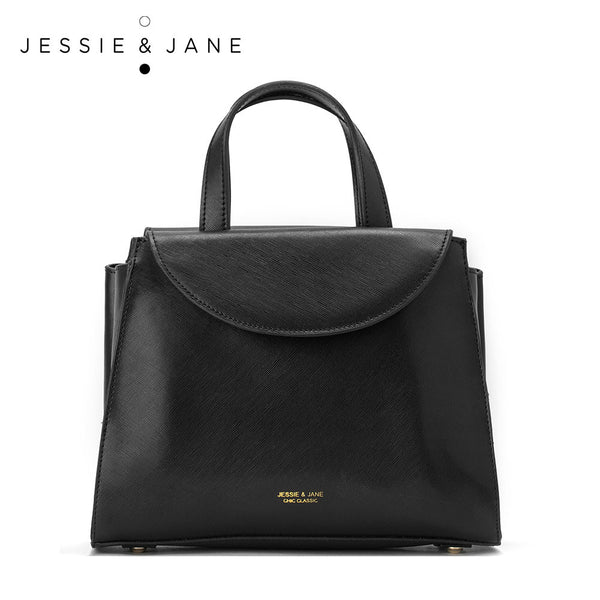 JessieJane Women Bags Designer Brand Vintage Top-handle Bags Genuine Leather Shoulder Bags Jane Style 1087