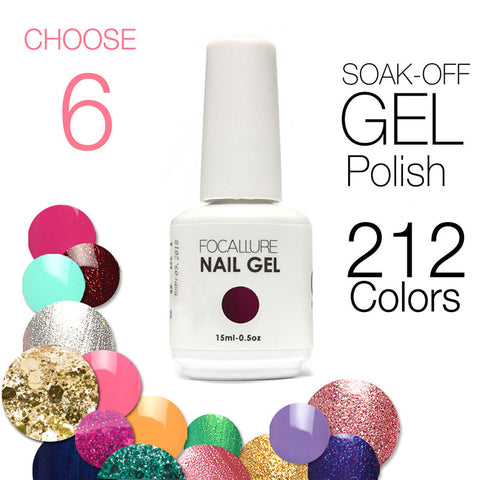 (Choose 6)Civi UV Gel Nail Polish Soak Off  UV Gel 30 Days Long Lasting 200 Gorgeous Colors The Best Gel Polish