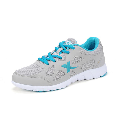 100% Original Xtep 2015 Fashion Breathable Women Sports Athletic Walking Running Training Authentic Shoes Rubber Mesh Sneakers
