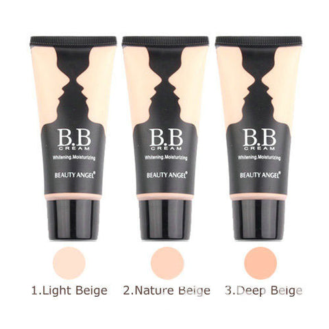3colors BB Cream Make Up Base+Foundation Bright&Smooth Whitening Moisturizing 40ml