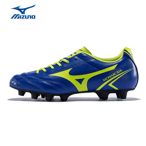 MIZUNO 2016 Men's Sports Leather Beathable Cushioning Soccer Shoes MONARCIDA MD Light Sport Shoes Sneakers P1GA162437 YXZ006