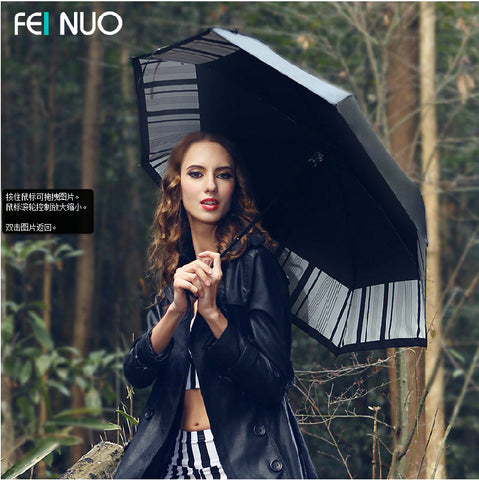 black plastic sunshade umbrella sun umbrella seventy percent off super Korean folding umbrella seventy percent off