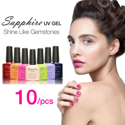 (Choose 10) Sapphire Nail UV 7.3ml80 Fashion Color Long-lasting LED Gel Polish Top Fashion