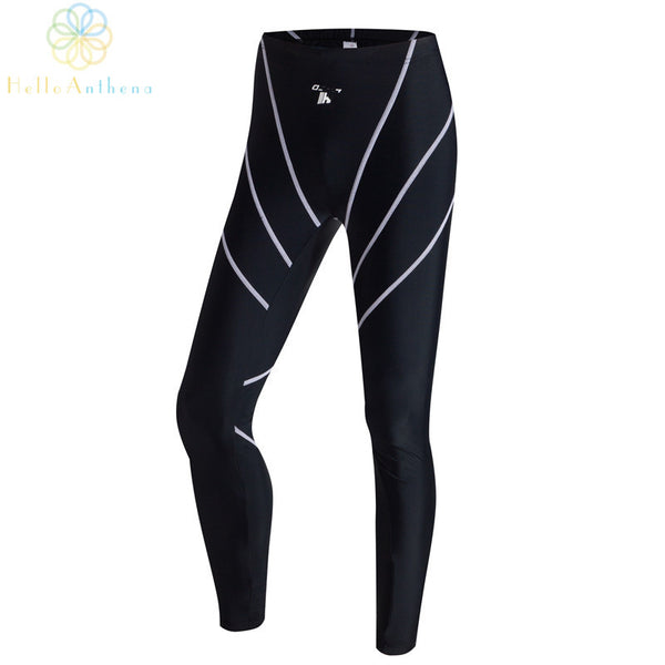 Men professional sports streamline design Uv protection swimming trunks pants trousers black breathable waterproof H-2802