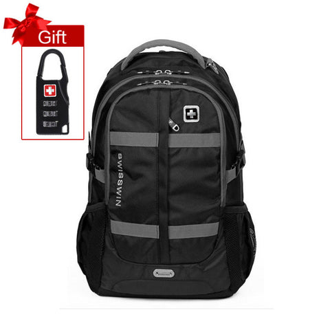 "Swisswin 15"" 16"" 17"" laptop backpack men waterproof tactical military bag hiking travel backpack sports school mochila sw8350N"