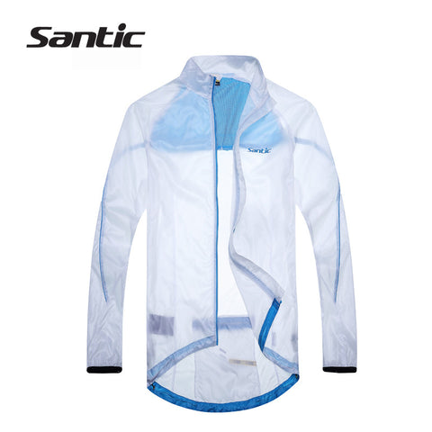 2015 Santic White Cycling Raincoat  WindProof Jacket  UPF30+ light Men Outdoor Professional Bike Cycling Sports Jacket  MC07010W