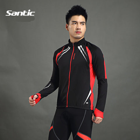 2015 Santic Men Cycling Jacket Cycling Jersey Long Bike Winter Spring Cycling Jackets Cycling Male Thermal Jerseys C01023R/Y