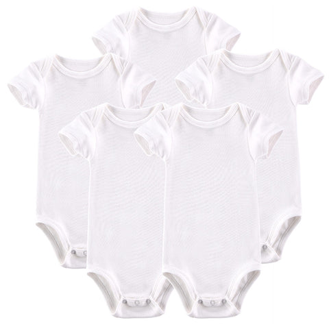 2015 Hot Sale Baby Clothing Infant Baby Boy Gril Romper 5 Pcs/Lot Bebes Short-sleeve Jumpsuit Infantil Roupa 0-12M Baby Pajamas
