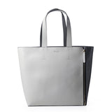 JESSIE&JANE Women's Zipper Decoration Texture Shoulder Tote Messenger Bags-Grey
