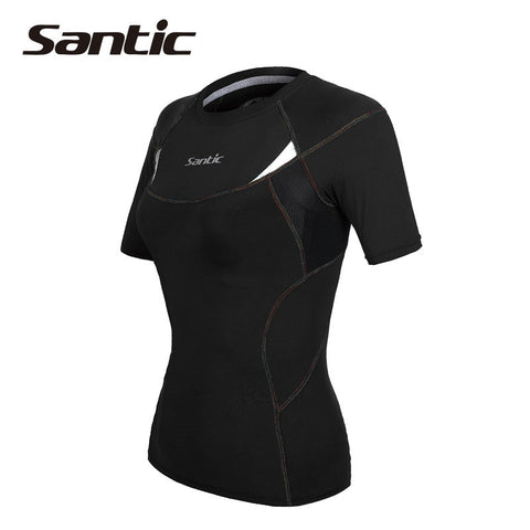 2016 Santic Women Running Jersey Short Sleeve Summer Running T Shirt Quick Dry Training Running Jersey Running Clothing LP14003