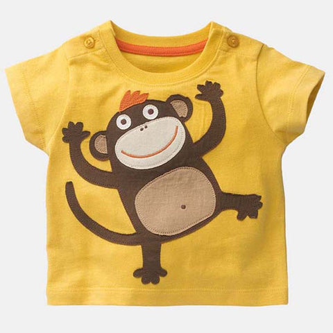Boys T-shirt Kids Tees 2016 Brand Baby Boy Tshirts Children Tees Long Sleeve 100% Cotton Baby T-shirt Car-styling Kids Clothes