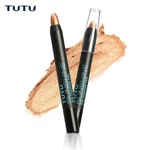 1Pcs Glitter Pearl White Light Cosmetic Makeup Eyelip Eyeliner Shadow Pencil Pen by TUTU