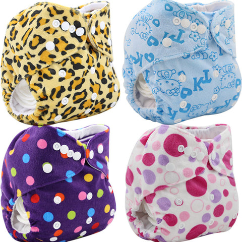 Baby Diapers Cloth Pocket  Character Double-breasted Baby Nappy Changing Reusable Baby Diper Cover Wrap Washable 25Colors