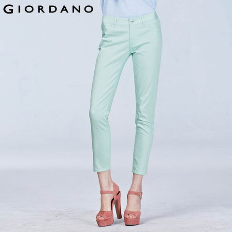 Giordano Women Casual Pants for Women Cotton Stretchy Woman Trousers Print Fashion Womens Pants Pantalones Mujer