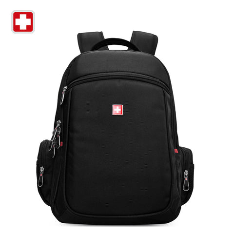 Swisswin 2016 Brand backpack Women's Daily Backpack tactical Swiss Casual Bag For Teenage Girls Boys School travel Black Backbag