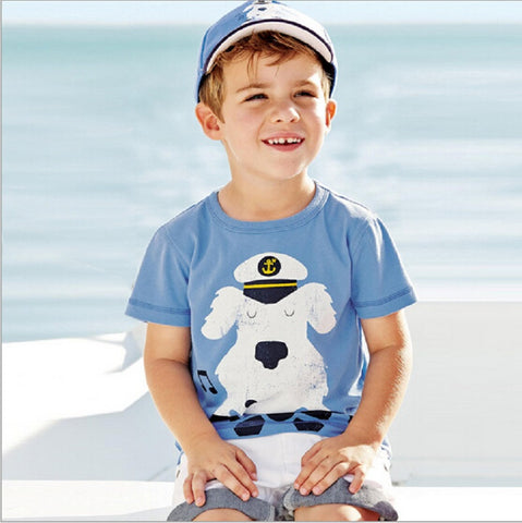 1-6 Years Baby Boy T Shirt Kids Tees 2016 Summer Brand Tshirts Children Tees Short Sleeve 100% Cotton Boys Tops Kids Clothes