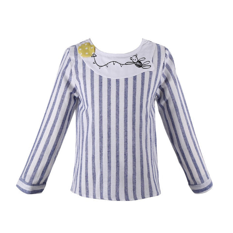 Kids Girls Shirts 2016 Fashion Children Shirt for Girls Clothes Striped Brand Shirt Baby Kids Clothes Girls Blouse