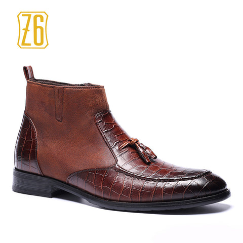 39-48 brand men boots Z6 Top quality handsome comfortable spring Retro leather boots #R5285-3