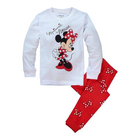 Milan Creations Girls Clothing Sets Children Pajamas Christmas 2015 Winter Kids Clothes Girls Sets Tops+Pants 2-7Y