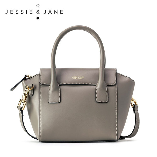 JessieJane Designer Brand Connie Series Women Top-handle bags Genuine Leather Shoulder bags Jane Style 1081