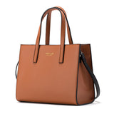 Jessie&Jane Women Mobile Messenger Simple and Neat Cow Split Leather Bags