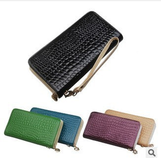 2015 New Crocodile wallet  lady clutch bag,new fashion women PU purse,stone pattern PU wallet new design small wallets, mini bag