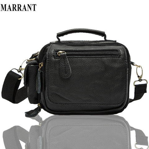 Guaranteed 100% genuine leather men's Messenger Bag Retro Shoulder Small men Bags chest purse Multifunctional Waist Pack fashion