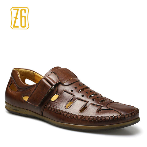 2016 men summer shoes Classic style Hollow Gladiator Retro sandals #A593-23P