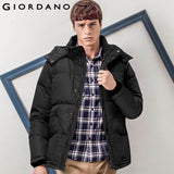 Giordano Men Down-Jacket Winter Warm Outdoor Mid-Long Parka Millitary Coat Waterproof Casual and Fashion Thick 90% Duck Down