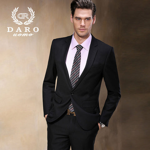 2015 Brand Design Men's Business Formal Wear High quality Plus Size Men Business Suit Terno Masculino DR8158-1