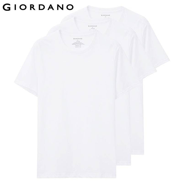 Giordano Men T-shirt Short Sleeves O-neck Solid Cotton Tee Undershirts Mens Tracksuit Jersey Famous Brand Clothing Hombre