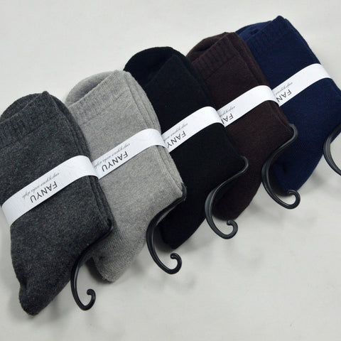 High Quality Autumn Winter Thick Warm Cotton Brand Business Male Socks For Man Solid Color Men Terry Socks 10 Pairs/Lot S135
