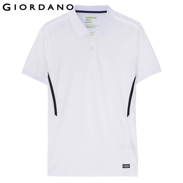 Giordano Men Polo Summer Brand Dry Male Contrast Sports Polo Shirt Branded Mens Polos Casual Plus Size Clothing for Men