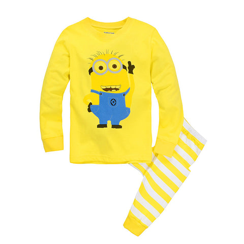 Milan Creations Children Clothing Sets Minion 2015 Winter Girls Clothes Sets Boys Clothing Tops+Pants Kids Pajamas Girls Outfits