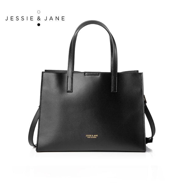 JESSIE&JANE Designer Brand 2016 New Mykonos Series Women's Bag  Simple Stylish Leather Totes 1370