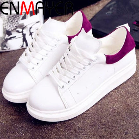 ENMAYER  Breathable Women shoes  wedge sneakers sport shoes woman Black Red  sneakers running shoes for women sneakers women