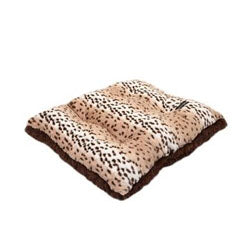 Snow Leopard Luxury Pet Pillow with Brown Shag